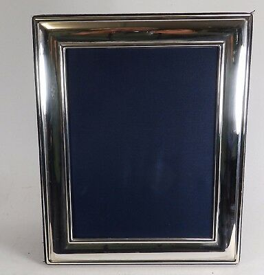 Simple Design Free Standing Hallmarked Silver  Photos Frame
