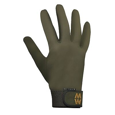 Macwet Climatec Gloves Olive Green Long Cuff Golf Shooting Horse Riding