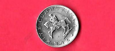 TURKEY TURKISH KM944 1981 unc-uncirculated mint old vintage 5 LIRE HORSE COIN