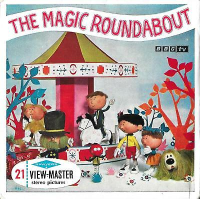 Viewmaster Stereoscopic Reels. The Magic Roundabout 1966. Iconic Children's TV.