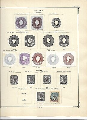 Mauritius unusual 19th century cut squares  (#0743a)