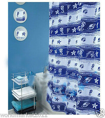 New Polyester Waterproof Environmental Bathroom Shower Curtain Hippocampus