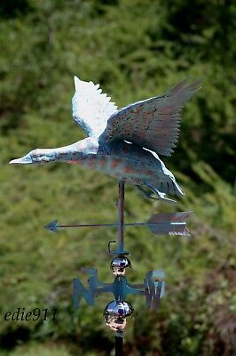 3D MALLARD DUCK Functional Weathervane AGED COPPER PATINA FINISH FULL BODIED