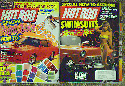Mix Lot of 19 Older Hot Rod Magazines, Lots of Cars, Nice Lot, L@@K