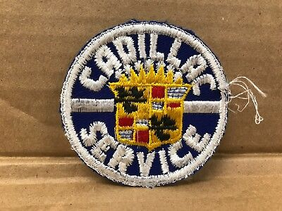"Vintage Original 1950/60's Embroidered Cadillac Service Jacket Patch 3"" X 3"""