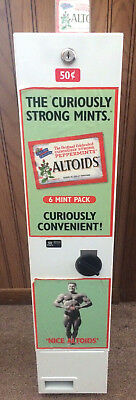 Altoids Mints Candy Coin Operated 50c Vintage Vending Machine Display No Keys