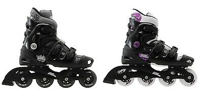 No Fear Adult Mens Ladies Inline Skates Roller Blades Skates 5 6 7 8 9 10 11 12