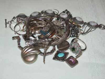 Huge Lot of Sterling Silver Scrap and Wearable 175g