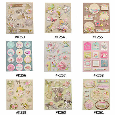 3D Adhesive Stickers DIY Scrapbooking Photo Album Diary Wedding Deocrative Craft
