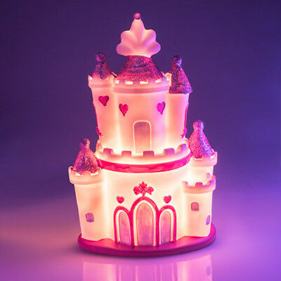 Princess Castle Pink LED Table Lamp Night Light Desk Room Bedside