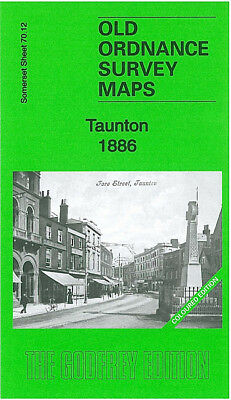 Old Ordnance Survey Map Taunton 1886 Coloured Edition