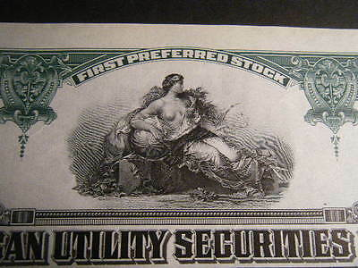 North American Utility Securities Corporation of Maryland 1927/28 Cancelled Cert