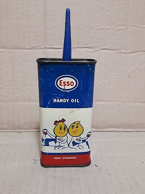 Latta olio esso  handy oil no vespa shell agip