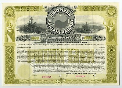 WI. Northern Pacific Railway Co., 1896 Specimen Rergistered Gold Bond VF ABN