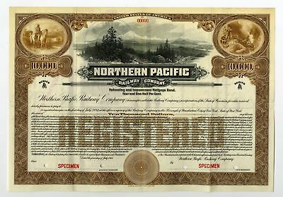 WI. Northern Pacific Railway Co. 1914 $10,000 Specimen Registered Gold Bond ABN