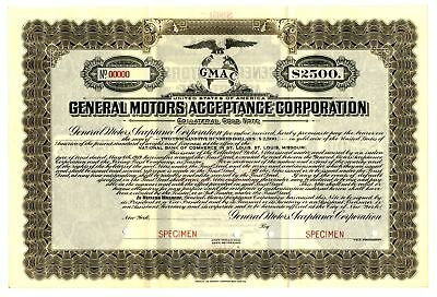 General Motors Acceptance Corp., 1919 $2500 Specimen Bond Automobile Financing