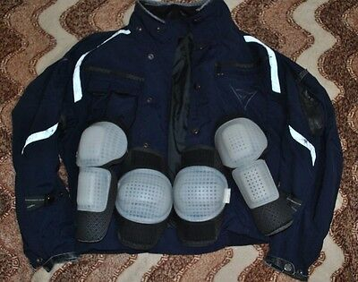 Mens DAINESE dark blue JACKET Size 44 motorcycle sport coat DUCATI armored