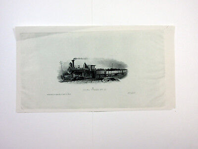 ABNC Archives c1880 PROOF Vignette Coal Train Locomotive India Paper VF National