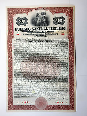 Buffalo General Electric Co., 1926 Specimen Bond