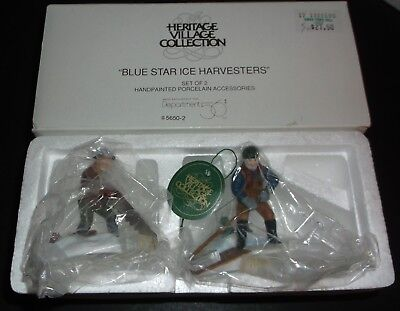 Dept 56 Hertiage Village Collection #56502 Blue Star Ice Harvesters - EUC!!