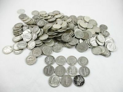 250 U.S. 90% Silver Dimes 1964 Before Coins Face Value $25
