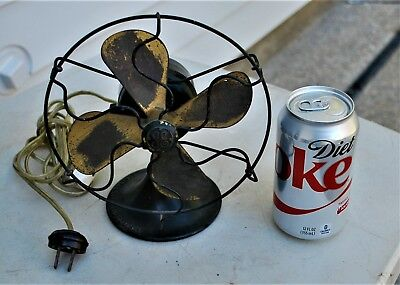 """ANTIQUE General Electric SERIES-F 6"""" 4 blade  FAN"""
