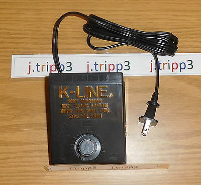 K-Line K-950 20 Watts Hobby Transformer Controller O Gauge Train Power Pack New