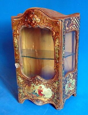 fabulous Victorian French miniature show case furniture doll furniture/jewels