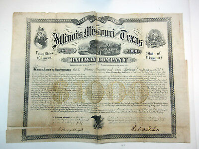 Illinois, Missouri and Texas Railway Co., 1871 Issued Bond