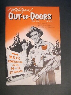 VTG 1951 June Michigan MI Out of Doors Magazine Hunting Fishing Ducks Unlimited