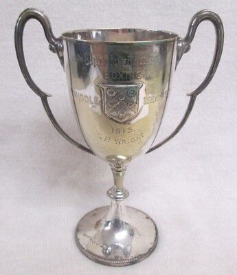 Vintage Mappin & Webb Silver Plated Boxing Cup Trophy 1913