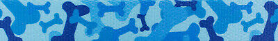 Country Brook Design® 1 Inch Blue Bone Camo Polyester Webbing, 50 Yards