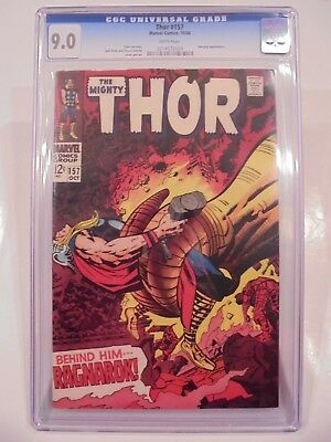 Thor #157 CGC 9.0 White Pages