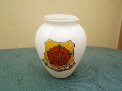 Carshalton Surrey Crest - Ostend Tobacco Jar - Goss Crested China