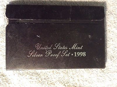 1998 United States Mint, Silver Proof Set, 5-Coin Set