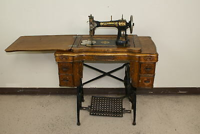 "Vintage White Rotary Treadle Sewing Machine U.S.A ""FPOR"" Local-Pick (500)"
