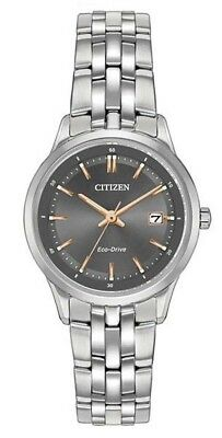 Citizen EW2400-58H Women's Eco-Drive Stainless Steel Watch With Sapphire Crystal