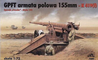 RPM 72602 1:72 155mm Field Gun GPFT K 419(f)