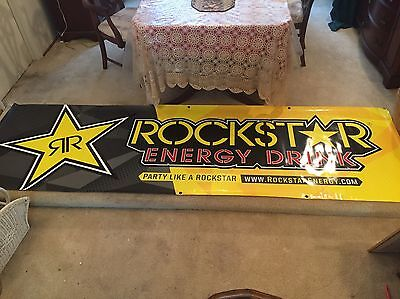 Authentic Rockstar Energy Drink 10'x3' Banner Graphics / Decals / Signs / Poster