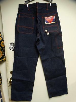 1940's Vintage J.C Penney BIG MAC Sanforized Denim Work Jean NOS w/Tag 34x32