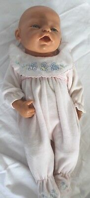 "VINTAGE BERJUSA 17"" Baby Girl Realistic Doll Anatomically Correct Reborn Clothes"