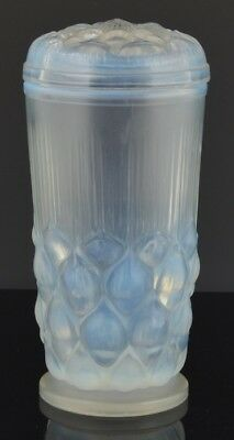 Antique Rare JOBLING GLASS Art Deco OPALESCENT PICKEL JAR & LID English Art NR