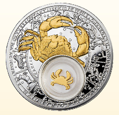 Belarus 2013 20 rubles Zodiac Cancer 28,28g Silver Proof Coin