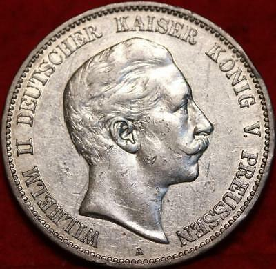1907 Germany 5 Mark Silver Foreign Coin Free S/H