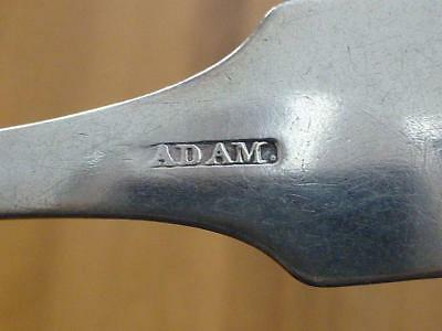 1780 John Adam ALEXANDRIA VA Virginia Fiddle back Coin Silver Spoon Southern