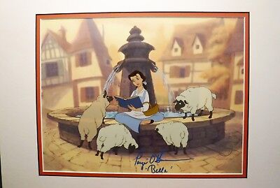 Disney Sericel Cel Beauty and the Beast Belle Autographed Voice Paige O'Hara