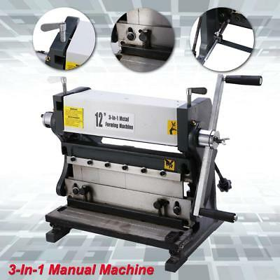Industrial 12-In Sheet Metal Shear, Brake & Roll Combinations Machine Heavy Duty