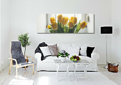 """Blooming Tulips Wall Art Picture Home Decor Canvas Print Painting 16""""x16""""x3pc"""