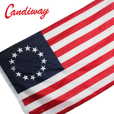 Betsy Ross Cotton Tea Stained flag flag USA flag Festival Aged Star BETSY ROSS