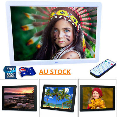 15'' HD TFT LCD Digital Photo Frame Picture MP4 Player Remote Control AU STOCK